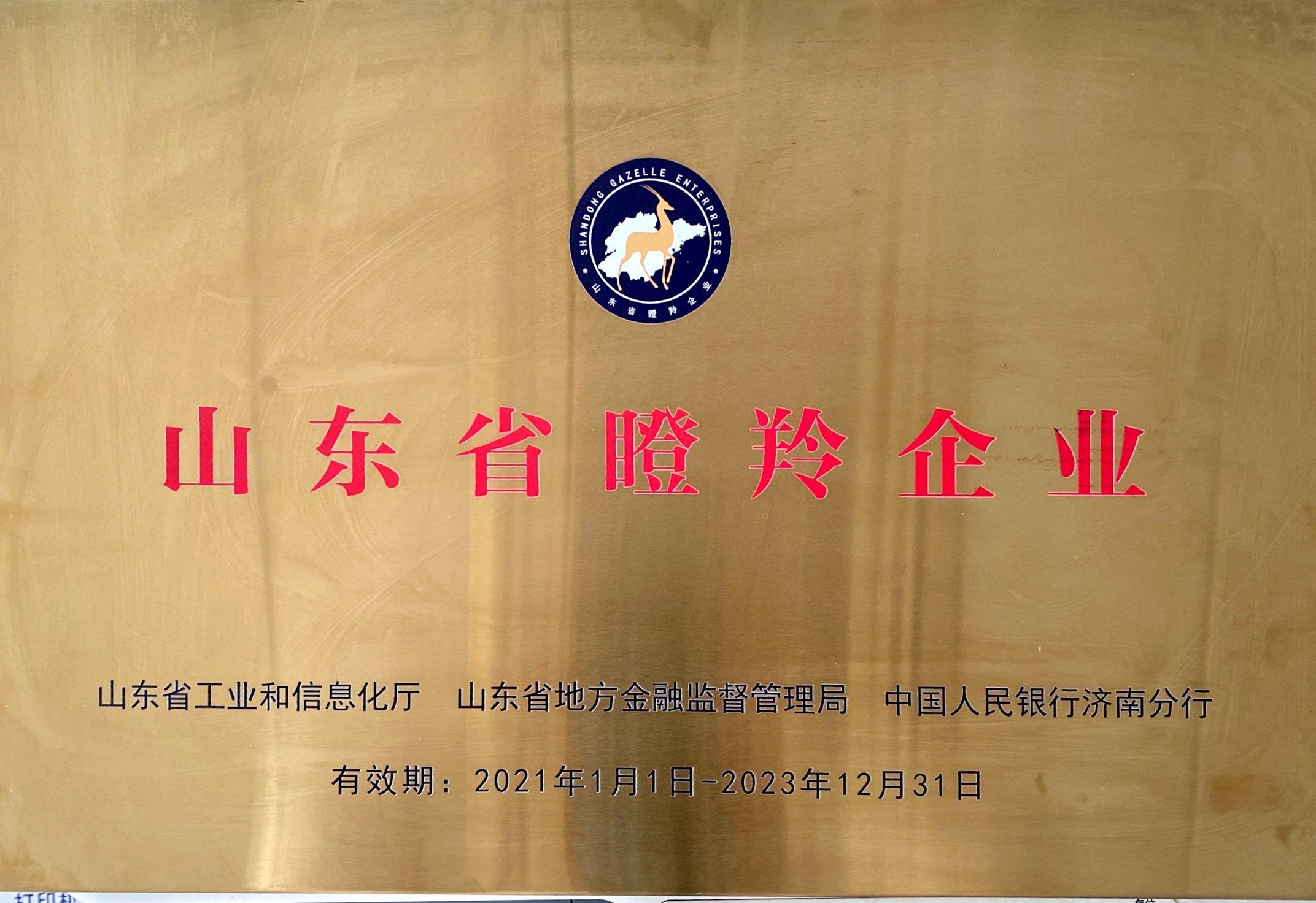 山东省瞪羚企业